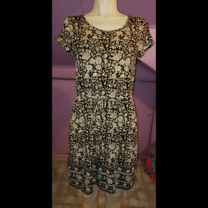 LUCKY BRAND FLORAL PRINT SOFT KNIT BOHO DRESS